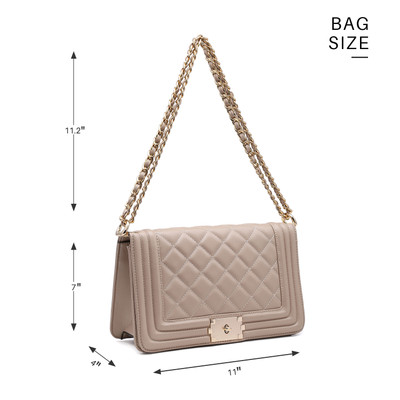 936ba14b29d1 Dasein® Quilted Crossbody Bag with Intertwined Leather Gold-Tone Chain  Straps. Wholesale Price   18.50